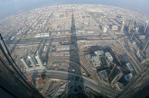 Vista do topo Burj Khalifa