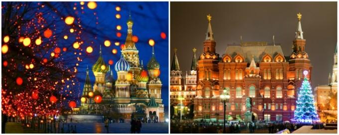 ano novo em Moscou
