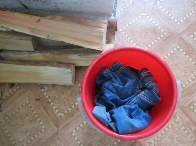lavar roupa no Ártico