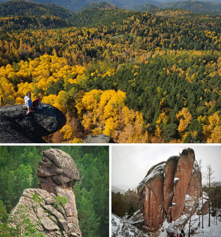 Pilares em Krasnoyarsk Rússia