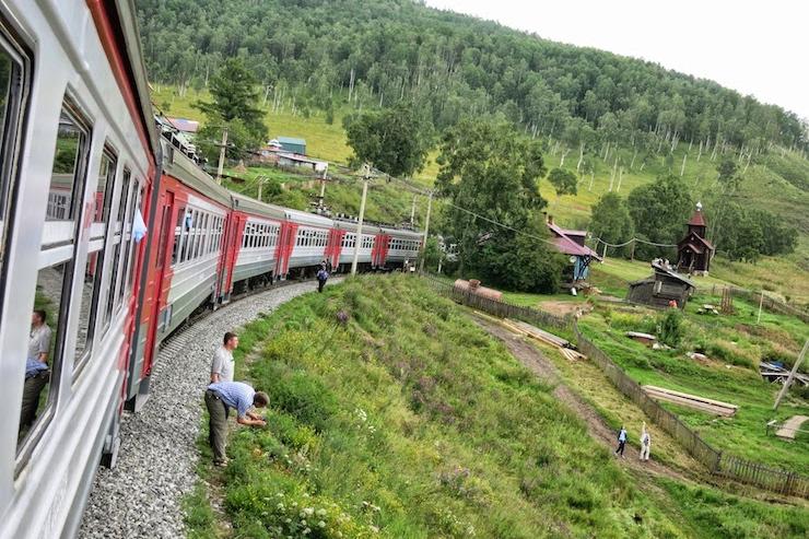ferrovia circular do lago Baikal Rússia