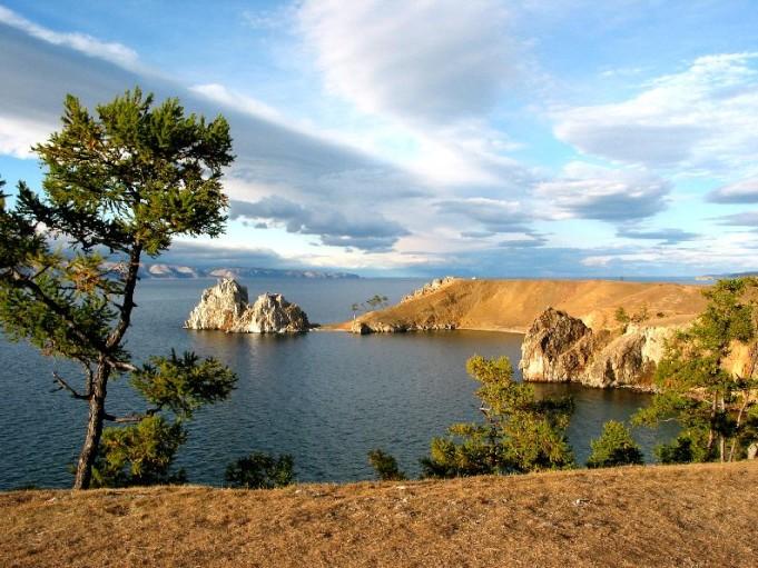 ilhas Olkhon, no lago Baikal
